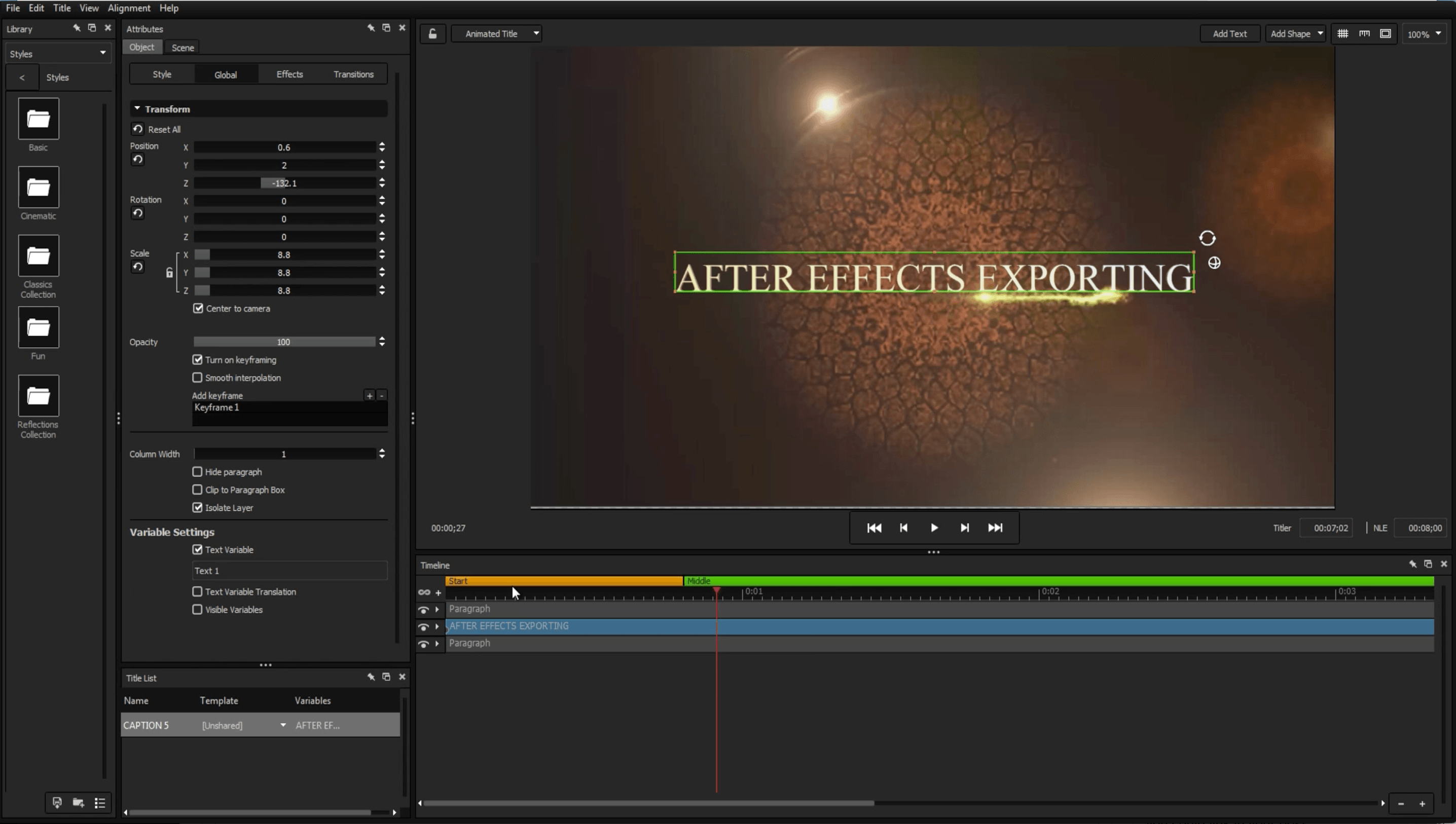 After Effects Exporter